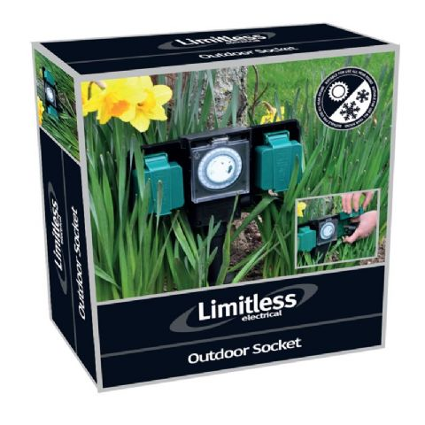Outdoor Ground Electric Timer Socket Garden Limitless Electrical By Bonnington Plastics